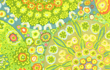 Millefiore Green   1/2 Metre Length