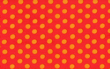 Spots Red   1/2 Metre Length