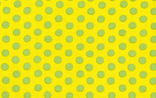 Spots Yellow   1/2 Metre Length