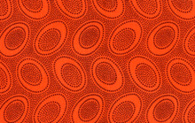 Aboriginal Orange   1/2 Metre Length