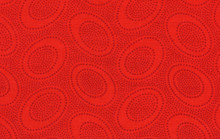 Aboriginal Red  1/2 Metre Length