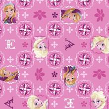 Frozen Glitter Pink 1/2 Metre Length