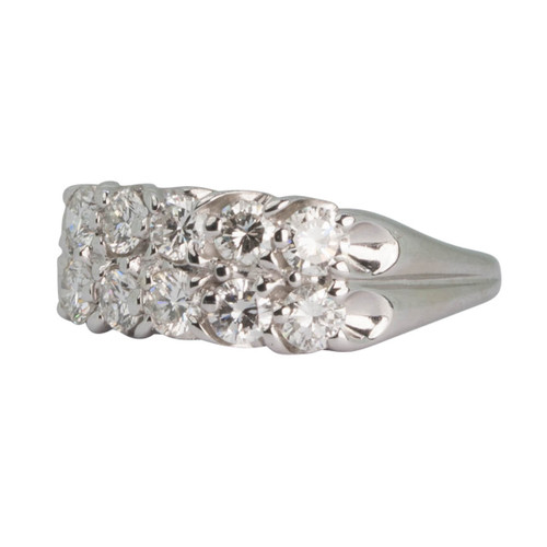 Second Hand 14ct Gold Double Row Diamond Ring