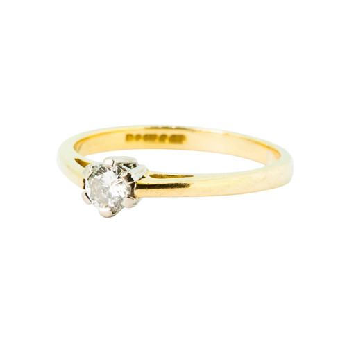 Pre Owned 0.25 Carat Diamond Solitaire Engagement Ring