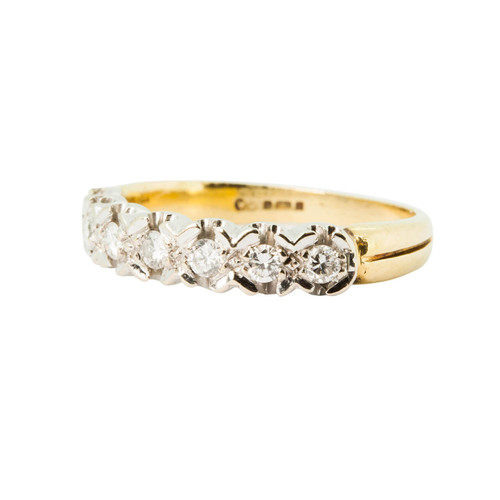 Pre Owned 18ct Gold Seven Stone Diamond Eternity Ring