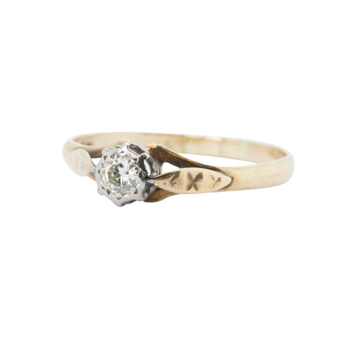 Vintage Engagement Ring - 18ct Gold Diamond Solitaire