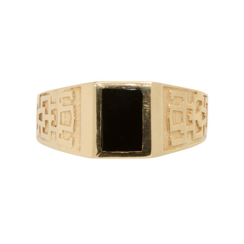 Second Hand 14ct Gold Onyx Signet Ring