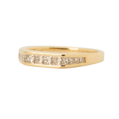 Pre Owned 18ct Gold, Princess Diamond Eternity Ring
