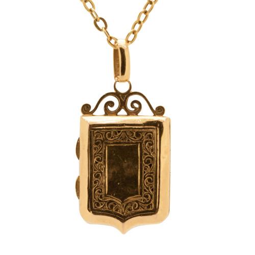 Vintage 18ct Gold Locket & Chain