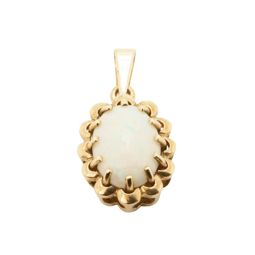Pre Owned 9ct Gold, Opal Pendant