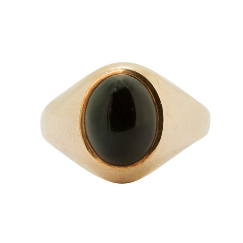 Pre Owned 9ct Gold Onyx Signet Ring