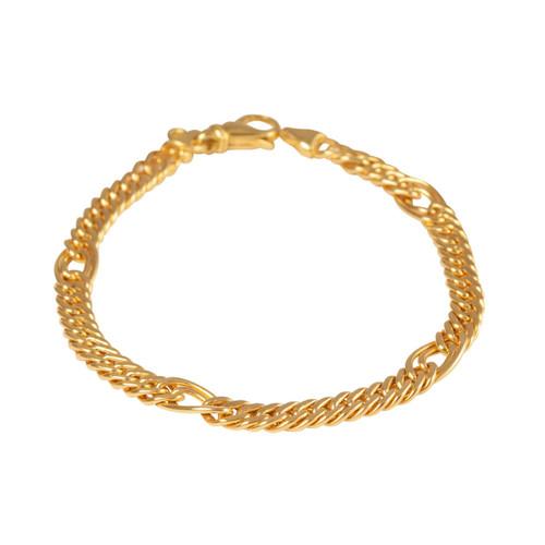 Pre Owned 18ct Gold Fancy Curb Bracelet