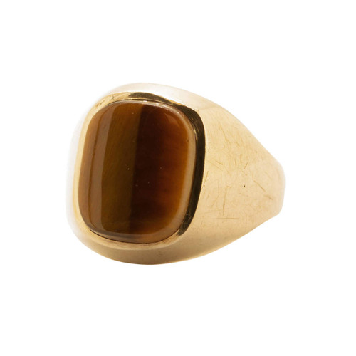 Vintage 9ct Gold Tigers Eye Signet Ring