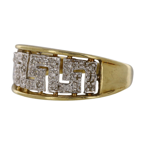 Pre Owned 9ct Gold Diamond Dress Ring