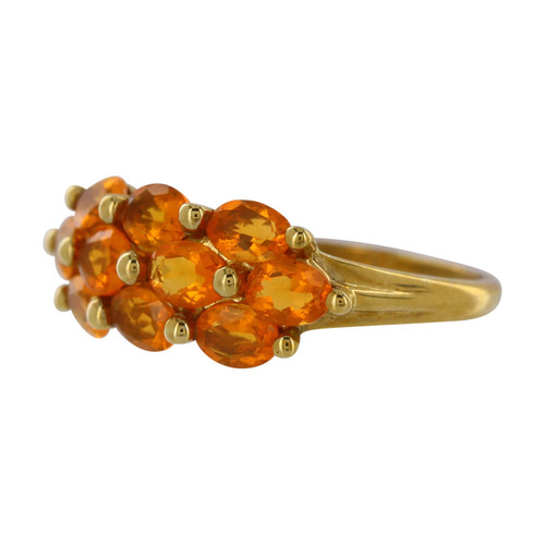Second Hand 9ct gold Orange Sapphire Dress Ring