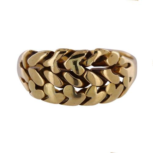 Vintage 18ct Gold Knot Design Ring
