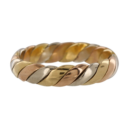 Second Hand 18ct Gold Three Colour Wedding Band