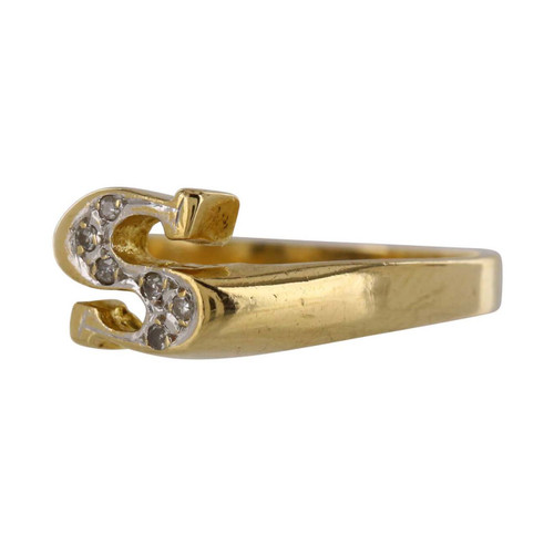Second Hand 14ct Gold Letter S Ring