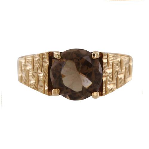 Vintage 9ct Gold Smoky Quartz Ring