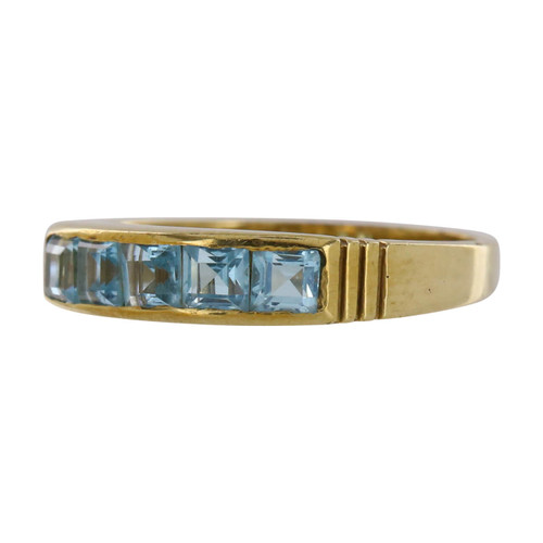 Second Hand 9ct Gold Blue Topaz Ring