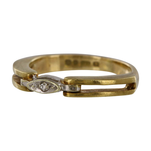 Pre Owned 9ct Gold Diamond Ring