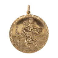 Second Hand Large 9ct Gold St Christopher Pendant