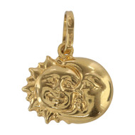 Front Image of Second Hand 18ct Gold Sun & Moon Pendant Charm