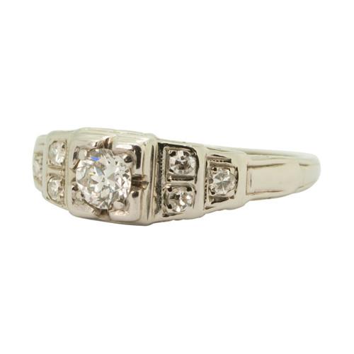Main Image of Vintage 18ct Gold Diamond Engagement Ring