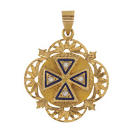 Front Image of Second Hand 14ct Gold Maltese Cross Pendant