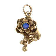 Front Image of Vintage 9ct Gold Opal Flower Pendant