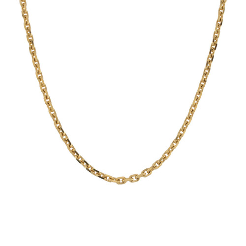 "Second Hand 18ct Gold 18"" Belcher Diamond Cut Chain"
