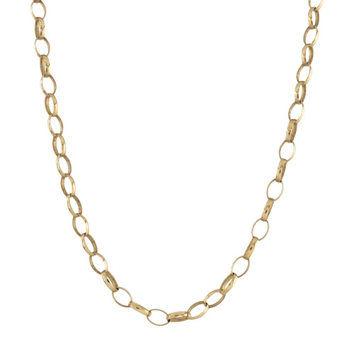 Second Hand 9ct Gold Long Oval Belcher Chain
