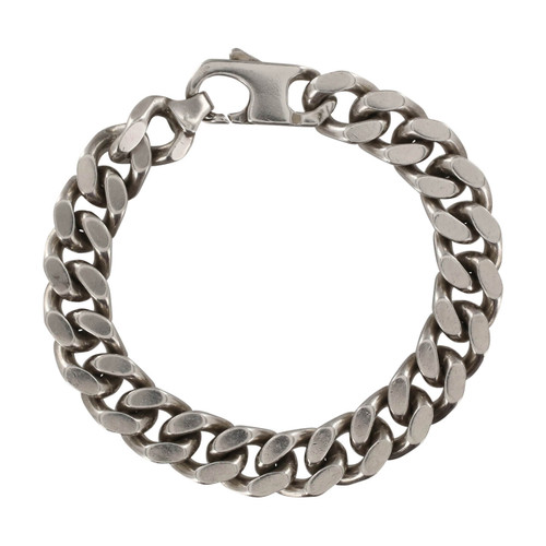 Second Hand Silver Heavy Flat Curb Bracelet