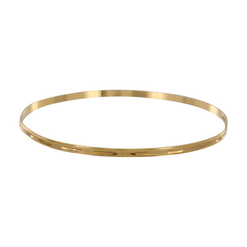 Second Hand 18ct Gold Engraved Bangle