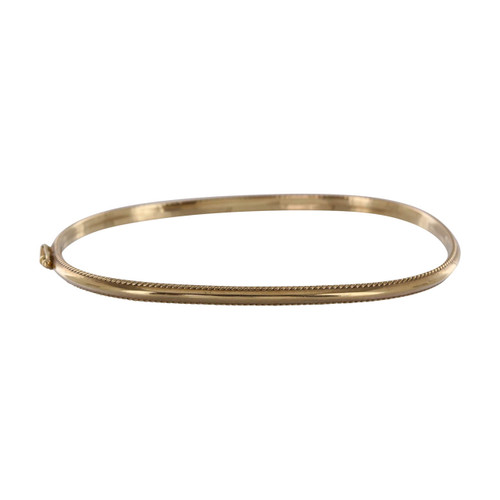 Second Hand 9ct Gold Oval Bangle