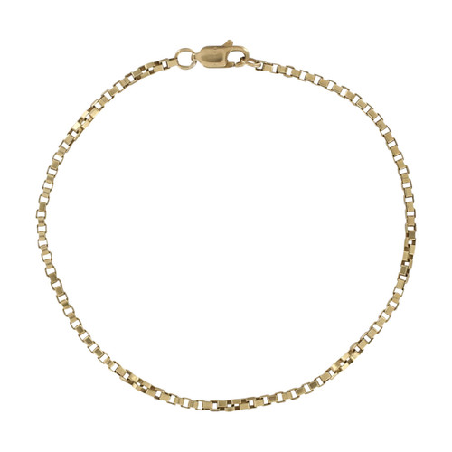 Second Hand 9ct Gold Box Bracelet