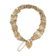 Pre Owned 9ct Gold 6 Bar Gate Bracelet