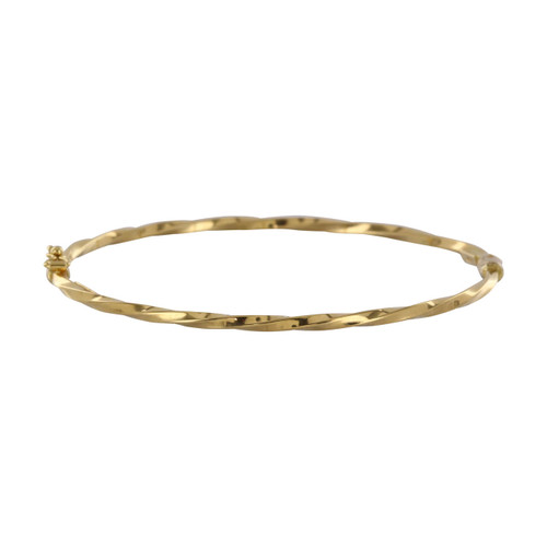 Pre Owned 18ct Gold Twist Bangle