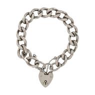 Pre Owned Silver Heavy Charm Bracelet