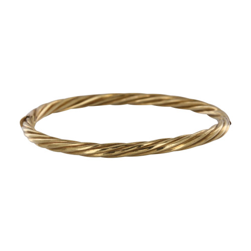 Pre Owned 9ct Gold Twist Bangle