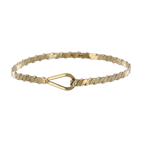 Second Hand 9ct Gold Stirrup Bangle