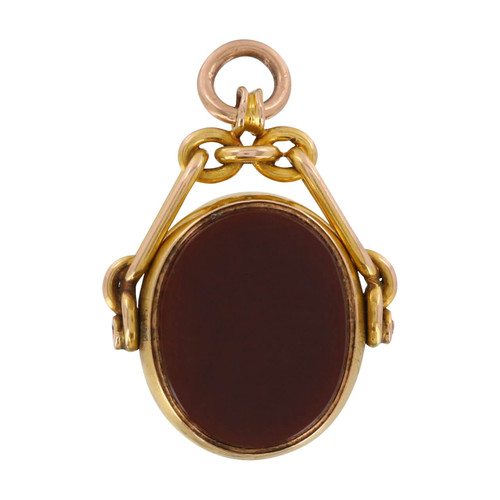 Antique 15ct Gold Carnelian & Bloodstone Fob