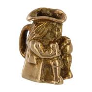 Vintage 9ct Gold Toby Jug Charm
