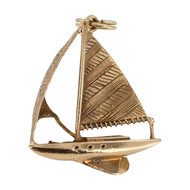 Pre Owned 9ct Gold Sailing Boat Charm