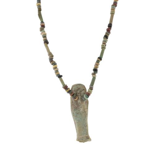Image of Egyptian Faience Mummy Bead Necklace with Ushabti