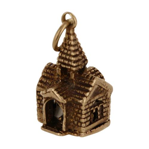 Vintage 9ct Gold Church Charm