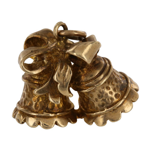 Vintage 9ct Gold Church Bells Charm