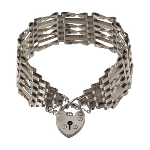 Vintage Silver 6 Bar Gate Bracelet