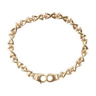 Second Hand 9ct Gold Kisses Fancy Link Bracelet