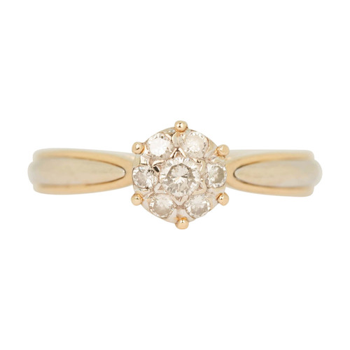 Second Hand 18ct Gold Diamond Cluster Ring